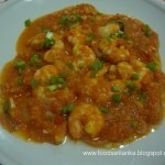Prawns with tomato stew