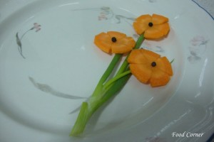A Flower bunch from a Carrot