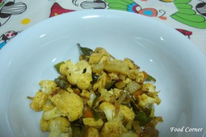 Cauliflower and Tofu stir fry