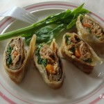 Stuffed paratha rolls with Potato & spinach