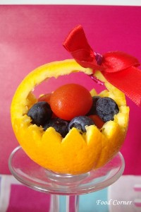 Fruit Basket with an Orange