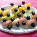 Fresh Fruit Kebabs & converting it to a food garnishing idea