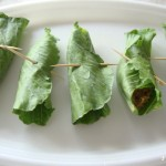 Potato wrapped in cabbage leaves