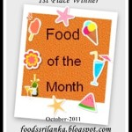 Announcing the winners of  'Food of the Month – October' & Theme for November is 'Christmas'