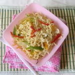 Fried Instant Noodles with Mixed vegetables
