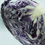 Purple Cabbage Salad & Garnishing it with Halloween theme