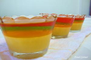 Rainbow Jelly with Mango Pudding