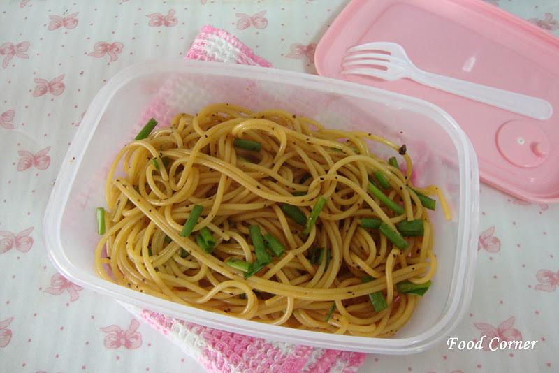 Simple & Easy Spaghetti dish with Black pepper sauce - Food Corner