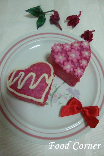 Mini Heart Shaped Cakes
