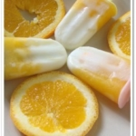 Orange Yogurt Popsicles