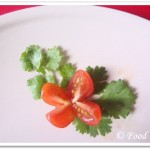 Garnish with Cherry Tomato Flowers