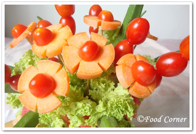 Rock Melon Centerpiece Easy Food Garnish Idea
