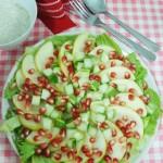 Pomegranate & Pear Salad with Yogurt Dressing (A Christmas Salad)