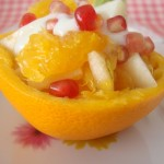 Orange Pomegranate & Pear Salad with Honey Yogurt Dressing