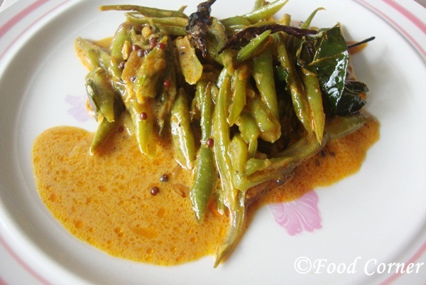 Sri Lankan Green Beans Curry / Bonchi Themparaduwa