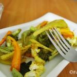 Roasted Vegetables with Garlic and Cilantro Yogurt Dip