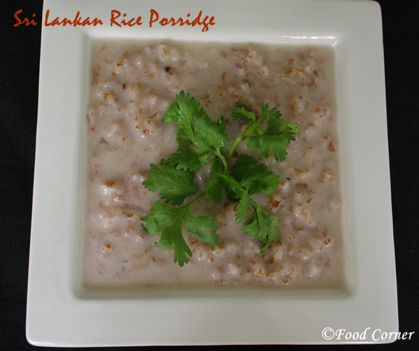 Sri Lankan Red Rice Porridge/Rathu Kakulu Hal Kanda