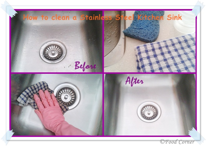 How to Clean a Stainless Steel Kitchen Sink - Food Corner