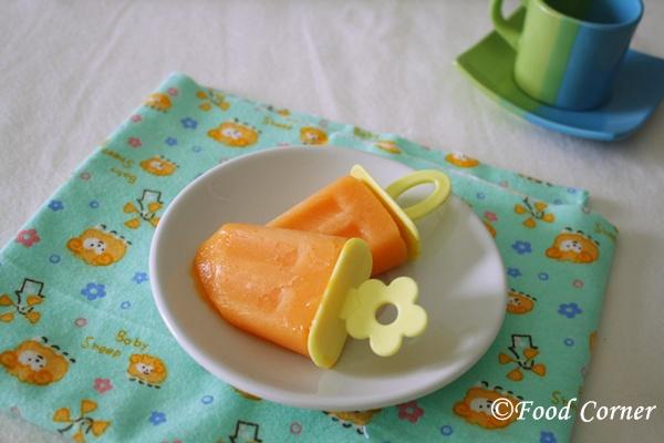 Papaya-Popsicles