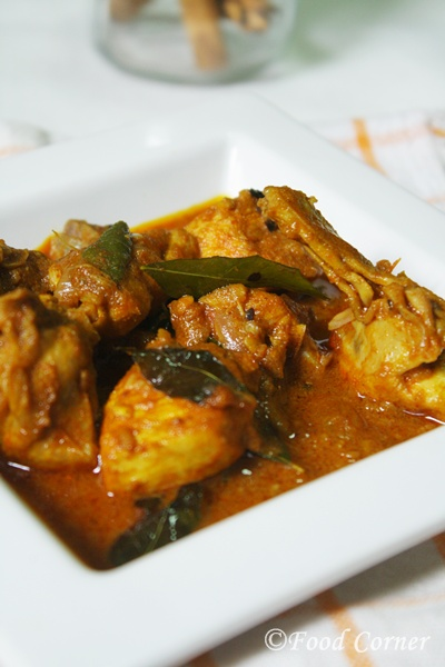 Sri Lankan Chicken curry with raw spices - Food Corner