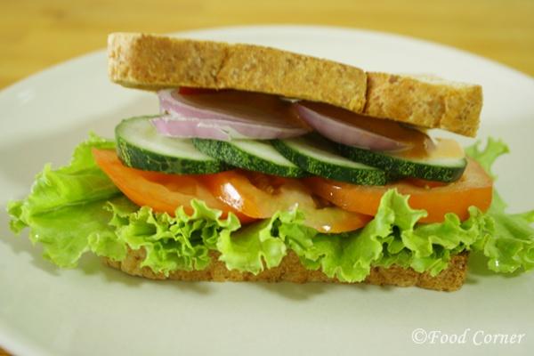Easy Sandwiches Recipe-Cucumber and Tomato Sandwich