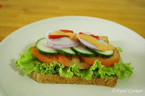 Cucumber and Tomato Sandwich