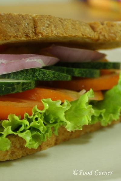 Sandwiches Recipes-Cucumber and Tomato Sandwich