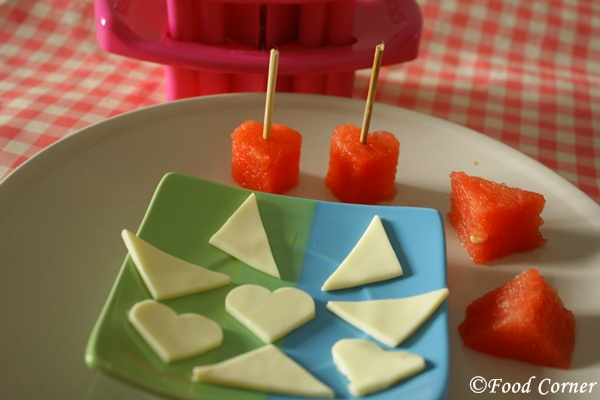 Watermelon Cheese Bites-easy healthy party snack