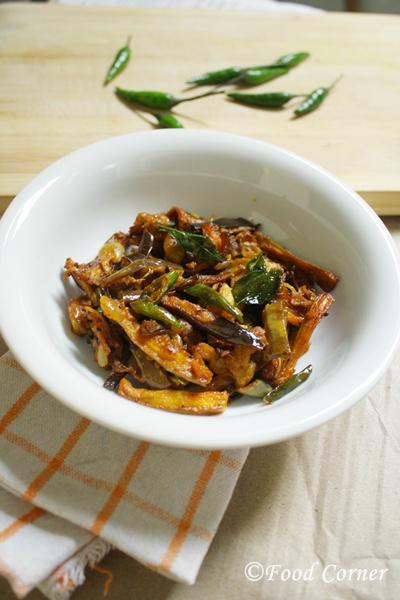 Wambatu Curry-Sri Lankan Fried Brinjal Curry