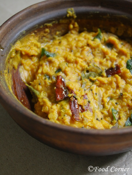Dry Parippu Curry