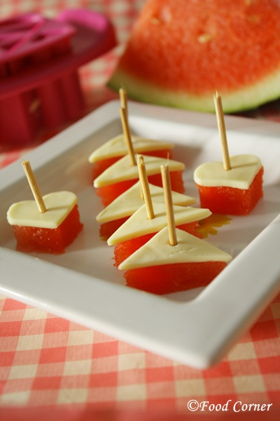 Watermelon Cheese Bites-easy healthy kids snack