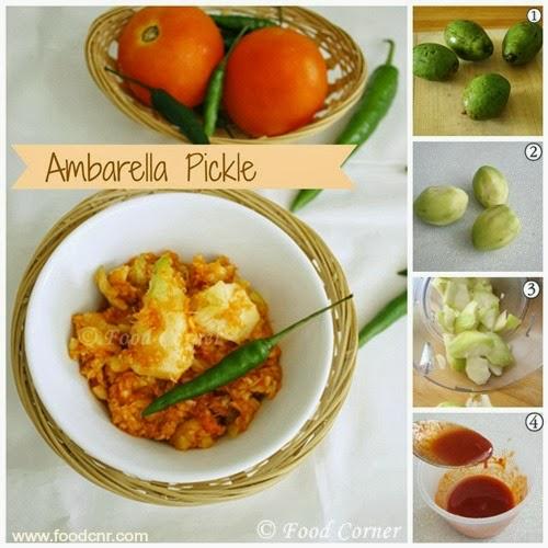 Ambarella Achcharu -Sri Lankan street food
