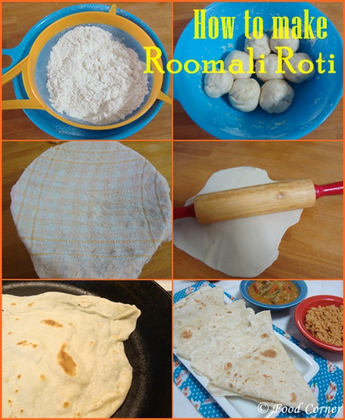 How to make Roomali Roti (Rumali Roti)-Indian Roti Recipe
