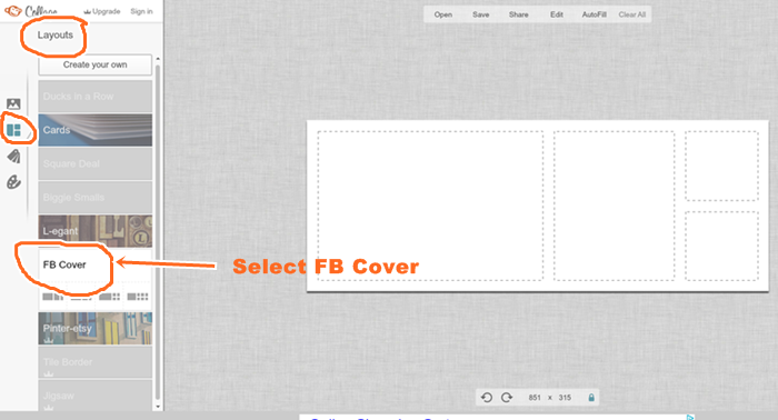 How to create a banner for facebook page