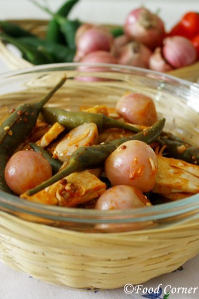 Achcharu (Sri Lankan Pickle with Baby Jack Fruit)