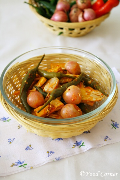 Polos Achcharu (Sri Lankan Pickle with Baby Jack Fruit)