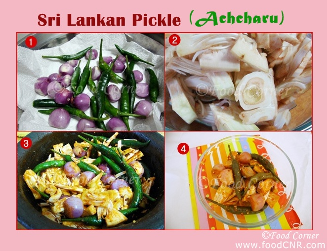 How to make Achcharu (Sri Lankan Pickle with Baby Jack Fruit)