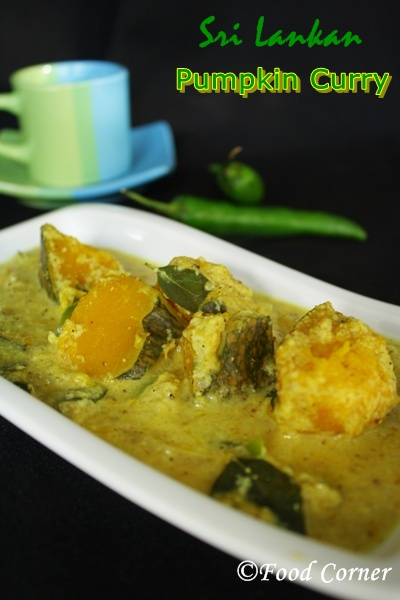 Sri Lankan Recipes- Pumpkin Curry