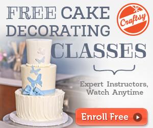 free modern buttercream cake decorating class at craftsy.com