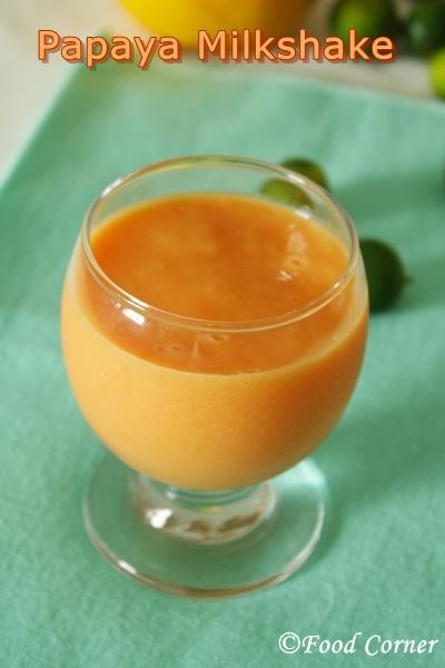 Papaya Milkshake Recipe