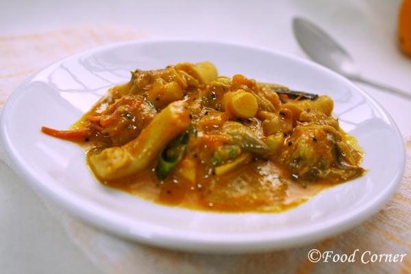 Mushroom curry Indian Sri Lankan style