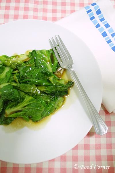 Stir fried Baby Kailan-Singapore Recipe