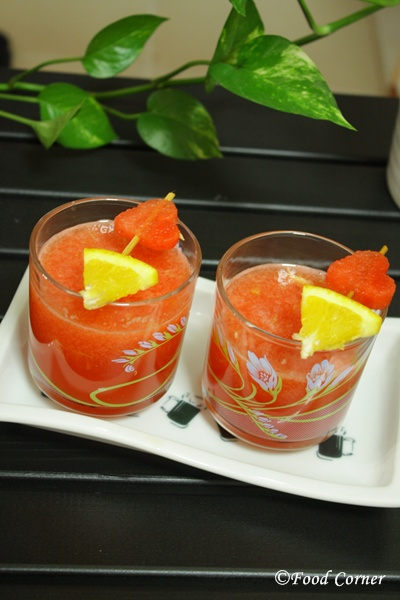 Food Corner:Watermelon and Orange Juice