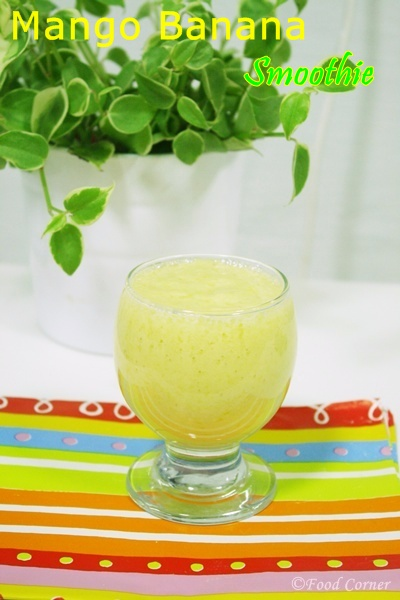Healthy Breakfast idea-Mango and Banana Smoothie