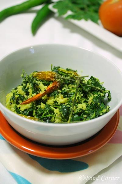 Drumstick leaves stir fry (Murunga Kola Mallun)