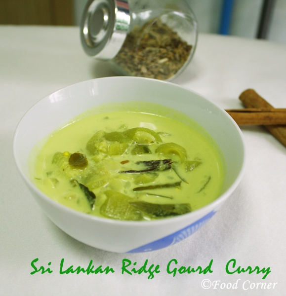 Sri Lankan Curry-Ridge Gourd Curry