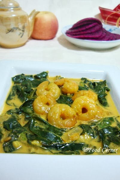 Kathurumurunga Leaves with Prawns