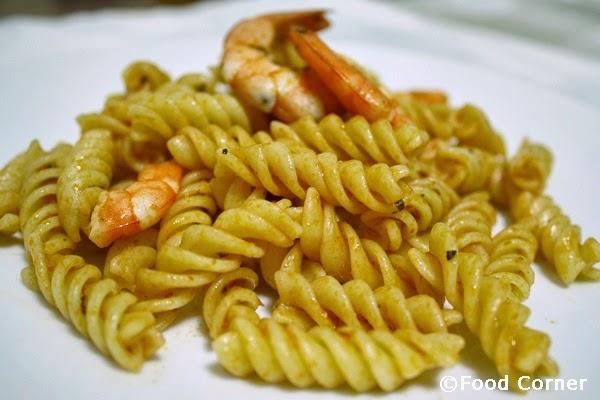 Pasta with prawns recipe