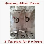 Giveaway – 3 Tea Packs from Teavivre (Worldwide)