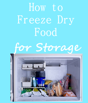 How to Freeze Dry Food for Storage